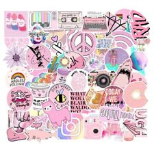 UK Seller VSCO Stickers 53Pcs Pink Aesthetic stickers for hydro flask laptop NEW