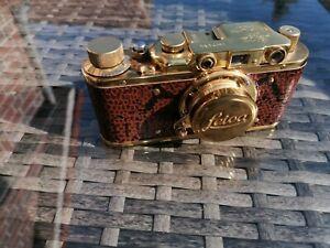"""Leica """"Kopie""""Leitz Wetzlar(Goldleica) DRP III Elmar 3,5/5cm sehr schön"""