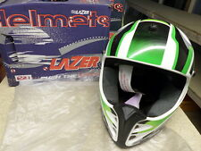 Casco de motocicleta MX5 X-PRO9 Lazer Grande (L) Motox Verde Blanco Negro X Pro 9 R21