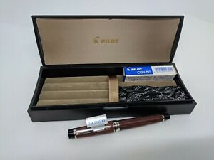 PILOT 14Kt Cherry Tree LEGNO 89s Wooden Fountain Pen Fine
