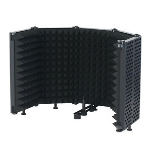 Microphone Isolation Shield 5-Panel Wind Screen for Recording  Q1I7