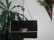 NWT  Micheal Kors Genuine Suede Leather Sloan Clutch Purse Black