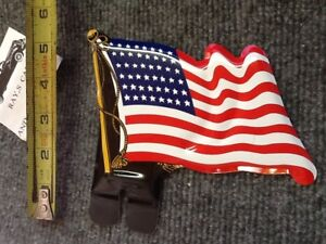 NEW AMERICAN FLAG LICENSE PLATE TOPPER !