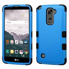 LG G Stylo 2 Plus (MS550) - BLUE BLACK ARMOR HIGH IMPACT HYBRID PHONE CASE COVER