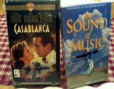 Vintage VHS Lot of 2 The Sound of Music & Casablanca Classic Special Edition NOS