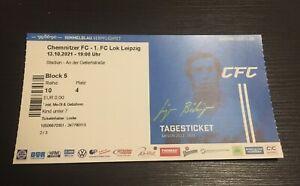 Used Sammler Ticket Chemnitzer FC 1. FC Lokomotive Leipzig RL Nordost 13.10.2021