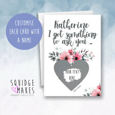 Will you be my bridesmaid scratch card, Maid of honour scratchcard personalised