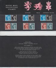 Royal Mail Definitive Presentation Pack 20 MNH 15p-34p Home nations Stamps c