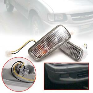 Front Bumper Lamp Light Pair For Isuzu TFR TF Pickup Holden Rodeo 1998-2001
