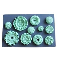 F5055 Embossed Round Fondant Silicone Mold for Clay Polymer Resin Decoration