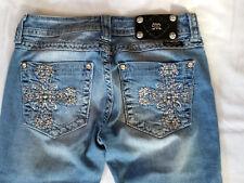 Miss Me Light wash Crystal Jewel Pocket Skinny Jeans 27 in x 32 Style JP510055