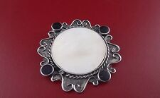 STERLING SILVER .925 WITH MOTHER OF PEARL PIN / BROCHE