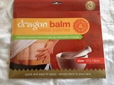 Dragon Balm Chinese Herbal Natural Remedy Heat Patches Pain Relief Plasters