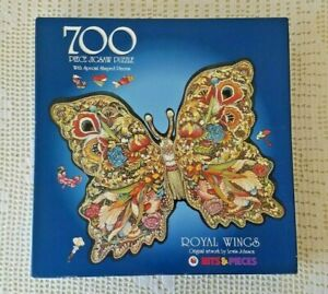 """Bits & Pieces Butterfly Jigsaw Puzzle """"Royal Wings"""" 700pc Complete"""