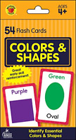 Carson Dellosa - Colors and Shapes Flash Cards - 54 Cards for Toddler / Skill 4+