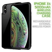 Cellet iPhone XS Wireless Charging Battery Case Rechargeable External Power