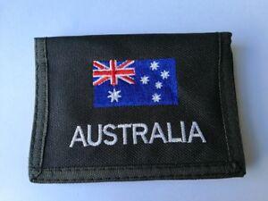 12X Black Nylon Wallets - Australia Flag Design