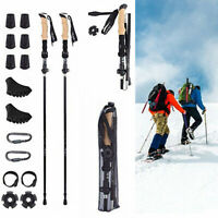 Pair 2 Trekking Walking Hiking Sticks Poles Adjustable Alpenstock Set
