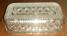 Vintage Quarter Pound Covered Butter Dish Wexford Anchor Hocking Pressed Glass