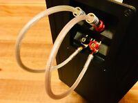 Audiophile Bi-Wire Speaker Jumpers 12AWG Nakamichi Banana/Spade PRISM