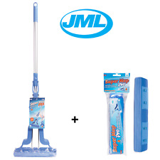 JML Super Mop Pro Ultra Absorbing Drying Sponge Telescopic Handle Plus 1 Refill