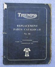 Triumph Pre Unit Motorcycle Manual Book 1960-61 Duplex Bonneville Trophy 6T 650