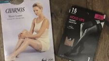 Two Pairs Stockings Hold Ups Size Small