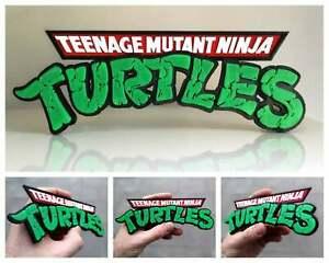 Teenage Mutant Ninja Turtles (TMNT) 3D logo / shelf display / fridge magnet