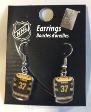 Patrice Bergeron Jersey #37 Dangle Earrings NEW Jewelry Boston Bruins