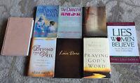 Christianity Women Relationship SelfHelp Books Paperback Hardcover Lot Of 8 GUC
