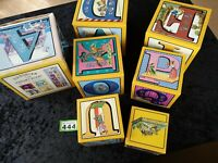 Victorian Alphabet Blocks Lindner 6-Piece Alphabet Nesting and Stacking Blocks