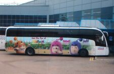 BUS PHOTO OF THE ODDBODS CARTOON ADVERT PHOTOGRAPH NATIONAL EXPRESS COACH.