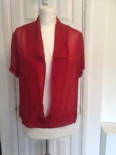 Quinto colonia para mujer Sheer sobre Blusa Prenda para el torso Talla 12 Rojo