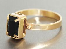 Goldring 750 mit Wassersaphir - Ring Gold mit Iolith - Solitär - Damenring 18 kt