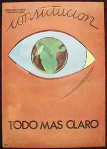 Original Poster Spain Constitution Human Rights Eye '81