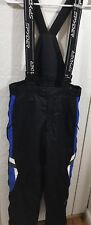Boys Spyder ski pants Ski Bib Size 16 Side Zip XT Black adjustable suspenders.