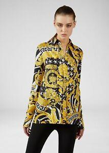 VERSACE 1195$ Savage Barocco Print Silk Shirt