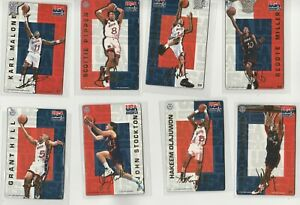 90'S INSERT LOT (8) DIFFERENT 1996 PRO MAGS USA MAGNETS HILL MALONE PIPPEN DROB
