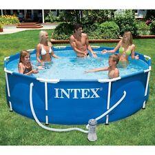 Intex 28202 Swimming Pool Frame 305x76cm Stahlrohrbecken Schwimmbecken mit Pumpe