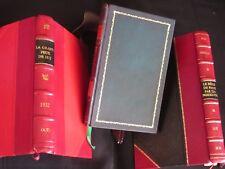 HISTOIRE DE PARIS : 3 titres / Reliés cuir