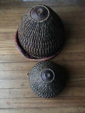 More details for pair of nagara indian drums-metal and leather plaiting 10
