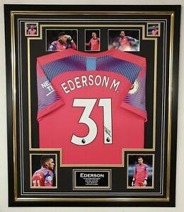 EDERSON Signed Shirt Autographed Jersey  AFTAL DEALER Certificate