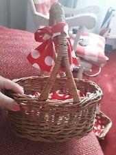 Wicker Basket 13 X 10 Inch Vintage