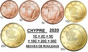 chypre 2020 : 1C + 2C +5C +10C +20C +50C