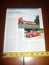 DENNIS JASPER KING MIDGET MINI MICRO CAR - ORIGINAL 2005 ARTICLE