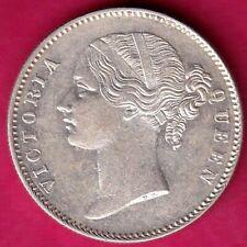 EAST INDIA COMPANY HIGH GRADE 1840 DIVIDED LEGEND VICTORIA QUEEN 1RUPEE SILVE#I1