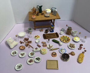 Vintage Kitchen Items Some Artisan Food Dishes Molds Dollhouse Miniature 1:12