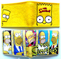 The Simpsons Bifold Wallet purse id window 2 card slot zip coin Bart Homer