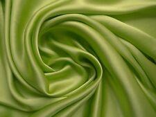 100 % Seide Crepe Satin - gelbgrün, Top Qualität Meterware ca. 114 cm breit