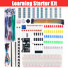 Electronic Component Starter Kit Breadboard LED Buzzer Resistor Transistor UK